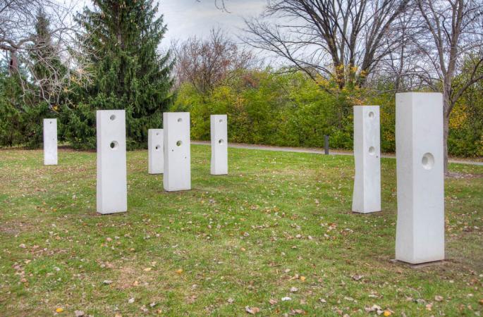 Points of Influence, Skokie Northshore Sculpture Park, Darrin Hallowell, 2015