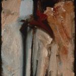 """Untitled (Linear #3). 1997. Oil. 12 x 6"""". Darrin Hallowell"""