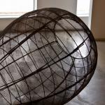 """Open Vessel (Trace). 2009. Steel. 55 x 37 x 37"""". Darrin Hallowell"""