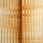 """Untitled (Gathering). 2010. Iron oxide on rice paper. 27 x 40"""". Darrin Hallowell"""