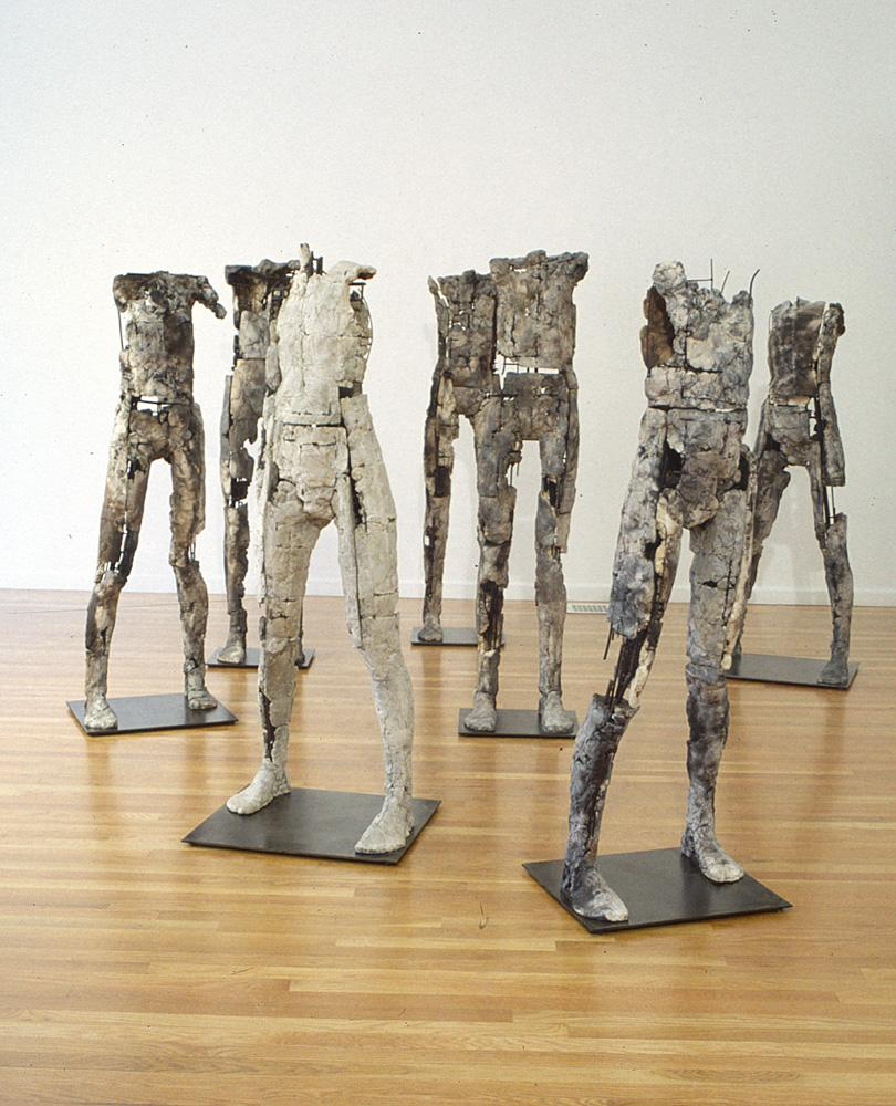 Seven Figures. 2004. Ceramic, stainless steel. Dimensions variable. Darrin Hallowell