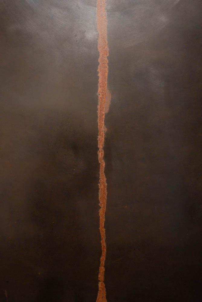 Line (Trace), 2014, oxidized steel, Darrin Hallowell